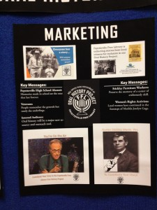 Marketing Section of Oral History Poster